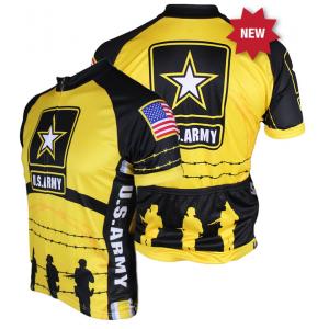 83 Sportswear US Army Cycling Jersey - Yellow