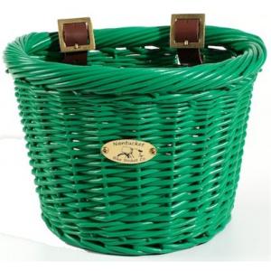 Nantucket Bike Basket Gull & Buoy - For Child's Bike - Green