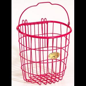 Nantucket Bike Baskets Surfside Rear Pannier Wire Bike Basket - Pink