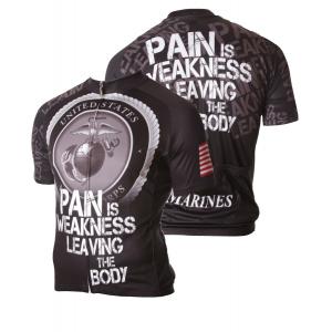 83 Sportswear USMC Pain Is Weakness Cycling Jersey
