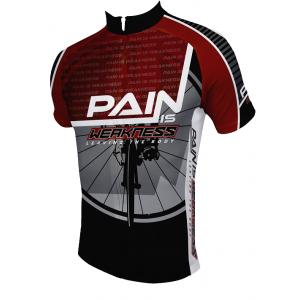 83 Sportswear Pain Is Weakness Cycling Jersey - 2016