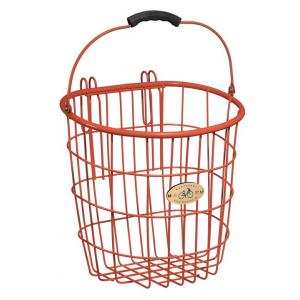 Nantucket Bike Baskets Surfside Rear Pannier Wire Bike Basket - Orange