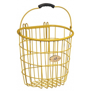 Nantucket Bike Baskets Surfside Rear Pannier Wire Bike Basket - Yellow