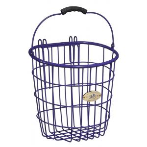 Nantucket Bike Baskets Surfside Rear Pannier Wire Bike Basket - Purple