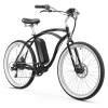 "Firmstrong Urban Man Electric 26"" 350W 7 Speed Beach Cruiser Bicycle"