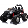 MotoTec Monster Truck 4x4 Ride On - 12v - 2.4ghz RC - Black - Parental Control