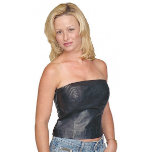 12 Inch Strapless Leather Bustier #LH2082K