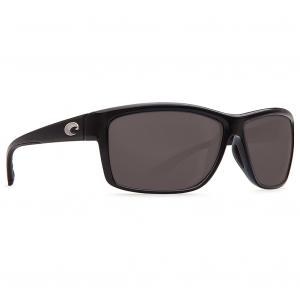 Costa Mag Bay Shiny Black Frame Sunglasses w/ Gray 580P Lenses AA-11-OGP