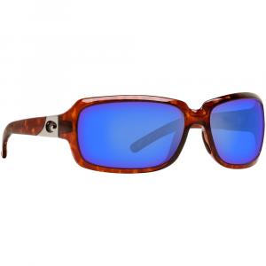 Costa Isabela Tortoise Frame Sunglasses w/ Blue Mirror 580G Lenses IB-10-OBMGLP