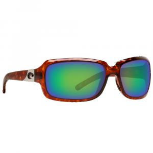 Costa Isabela Tortoise Frame Sunglasses w/ Green Mirror 580G Lenses IB-10-OGMGLP