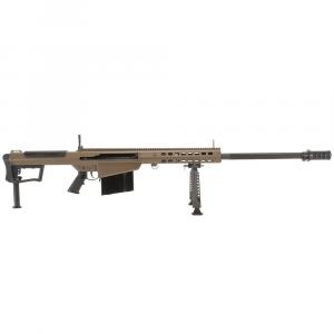 Barrett M107A1 .50 BMG Semi-Auto FDE Rifle w/ Hydraulic Buffer System and Black 29