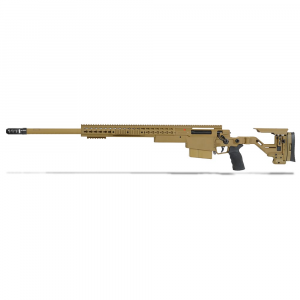 Accuracy International AXSR Folding Left Hand Rifle .300 Win Mag Dark Earth 3/4