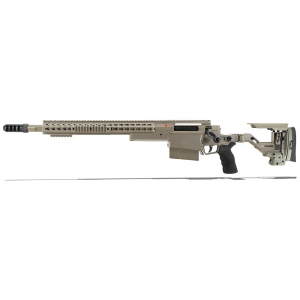 Accuracy International AXSR Folding Left Hand Rifle .338 Lapua Mag Elite Sand 3/4