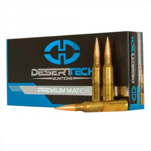 Desert Tech DTM .338 Lapua Mag 300gr Match Ammunition Case 200rds DTM-338300-CS