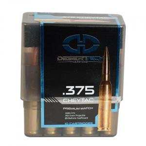 Desert Tech DTM .375 CheyTac 352gr Match Ammunition Case 100rds DTM-375352-CS