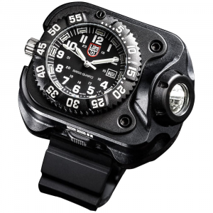 SureFire 2211 Luminox Rechargable Variable-Output LED WristLight & Watch 2211-B-BK-LMX