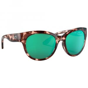 Costa Maya Shiny Coral Tortoise Sunglasses w/Green Mirror 580G Lenses 06S9011-90110155