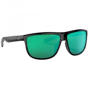 Costa Rincondo Shiny Black Sunglasses w/Green Mirror 580P Lenses 06S9010-90100261