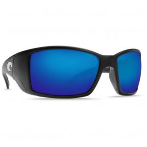 Costa Blackfin Matte Black Frame Sunglasses w/Blue Mirror 580G Lenses 06S9014-90141962