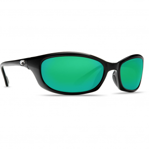 Costa Harpoon Shiny Black Frame Sunglasses w/Green Mirror 580G Lenses 06S9040-90401362