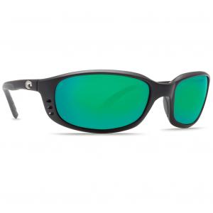 Costa Brine Matte Black Frame Sunglasses w/Green Mirror 580G Lenses 06S9017-90171659