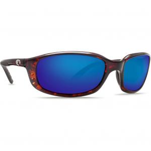 Costa Brine Tortoise Frame Sunglasses w/Blue Mirror 580G Lenses 06S9017-90171059