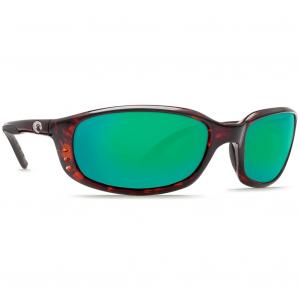 Costa Brine Tortoise Frame Sunglasses w/Green Mirror C-Mate 2.00 Lenses 06S7001-00020459