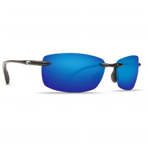 Costa Ballast Shiny Black Frame Sunglasses w/Blue Mirror 580P C-Mate 1.50 Lenses 06S7002-00030260