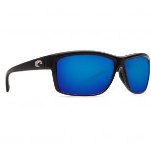 Costa Mag Bay Shiny Black Frame Sunglasses w/Blue Mirror 580P Lenses 06S9048-90480463