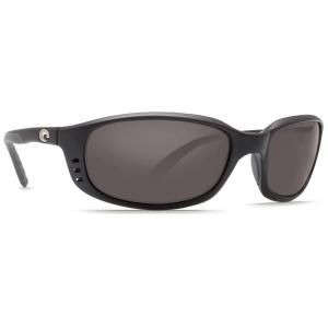 Costa Brine Matte Black Frame Sunglasses w/Gray 580P C-Mate 1.50 Lenses 06S7001-00040259