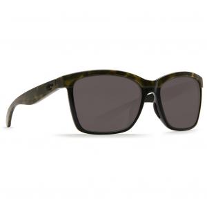 Costa Anaa Shiny Olive Tortoise on Black Frame Sunglasses w/Gray 580P Lenses 06S9053-90530455