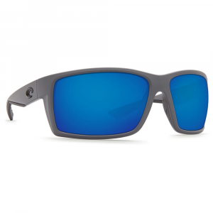 Costa Reefton Matte Gray Frame Sunglasses w/Blue Mirror 580G Lenses - New Without Tags 06S9007-90073364