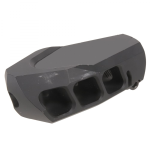 Cadex USED MX1 3/4-20 Threads Black Muzzle Brake 3850-022 Excellent Condition, Minor Scratches in Paint UA2412