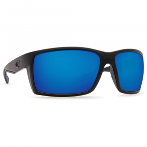 Costa Reefton Blackout Frame Sunglasses w/Blue Mirror 580G Lenses - New Without Tags 06S9007-90071764