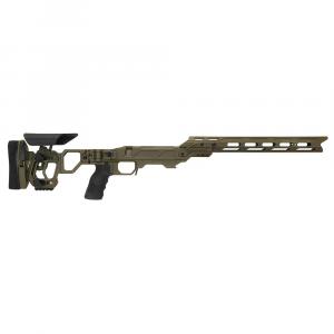 Cadex Defense Lite Competition M-LOK OD Green Rem 700 LA Skeleton Folding for SSSF 3.715