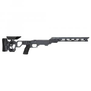 Cadex Defense Lite Competition M-LOK Sniper Grey Rem 700 M24 Skeleton Folding Chassis STKLCP-M24-RH-LA-B-NA-BGRY