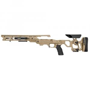 Cadex Defense Field Tactical Tan Tikka-T3 SA for Accu-Mag LH Skeleton Fixed 20 MOA DSSF 3.055