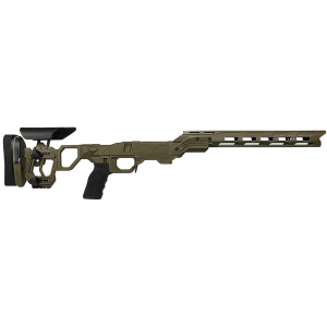 Cadex Defense Field Competition M-LOK OD Green Tikka-T3 SA for Accu-Mag Skeleton Fixed DSSF 3.055