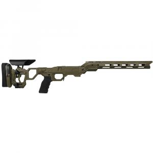 Cadex Defense Field Competition M-LOK OD Green Rem 700 LA Skeleton Fixed for SSSF 3.715