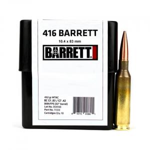 Barrett Ammo .416 Barrett CEB 452gr MTAC Box of 10 17222