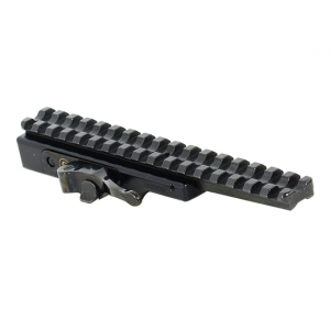 Contessa Simple Black Tactical Picatinny Rail with Steel Extension Base for Night Vision Devices SBP02