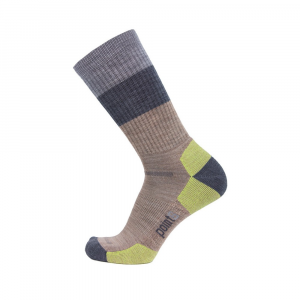 Point6 Block Stripe Light Crew Socks Unisex