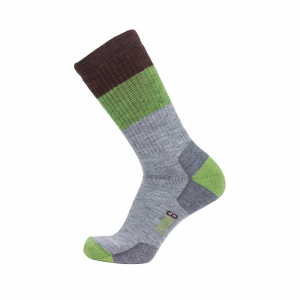 Point6 Block Stripe Medium Crew Socks - Unisex