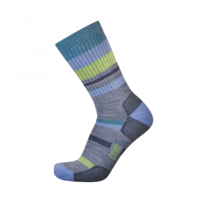 Point6 Mixed Stripe Light Crew Socks - Unisex