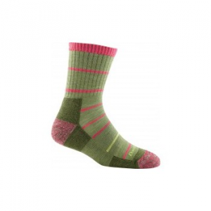 Darn Tough Summit Stripe Micro Crew Cushion Socks - Women's