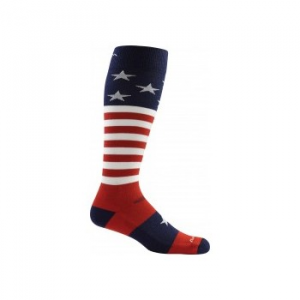 Darn Tough Captain America Over-The-Calf Cushion Socks - Men's 129440