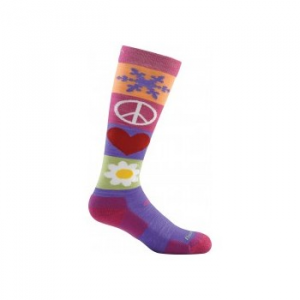 Darn Tough Peace Love Snow Jr. Over-The-Calf Cushion Socks - Youth