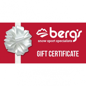 Berg's Ski and Snowboard Shop Holiday Gift Certificate