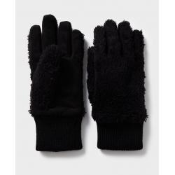 WOMEN'S RIBBED CUFF FAUX FUR GLOVE