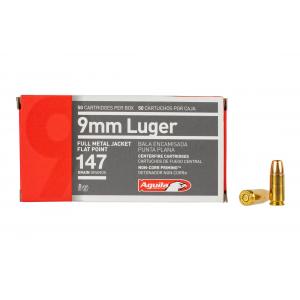 9mm Full Metal Jacket Flat 147gr Ammo - Box of 50